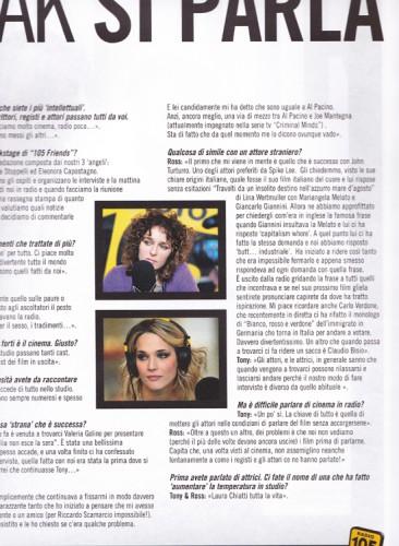 105 Mag - n. 2 - interno - Laura Chiatti - Valeria Golino