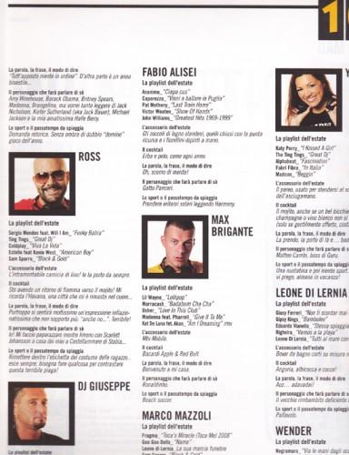 105 Mag - n. 2 - interno - Ross - DJ Giuseppe - Max Brigante - Ylenia