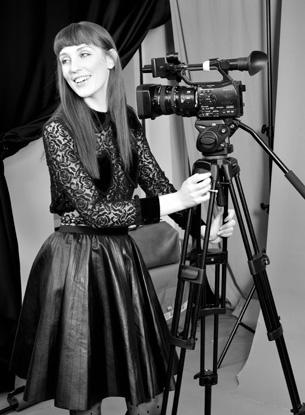 Giulia Salvi negli studi TV